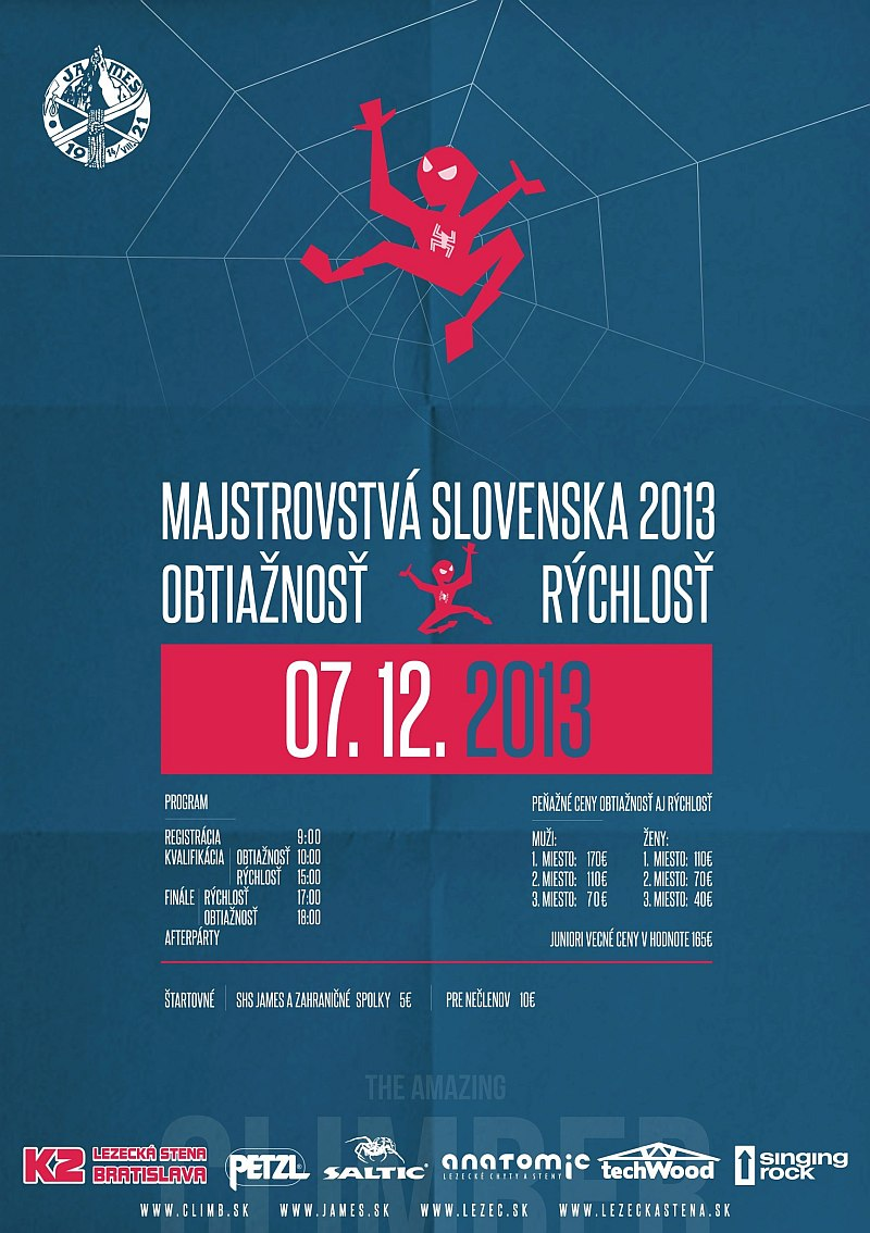 Majstrovstvá SR 2013 - Obtiažnosť a rýchlosť