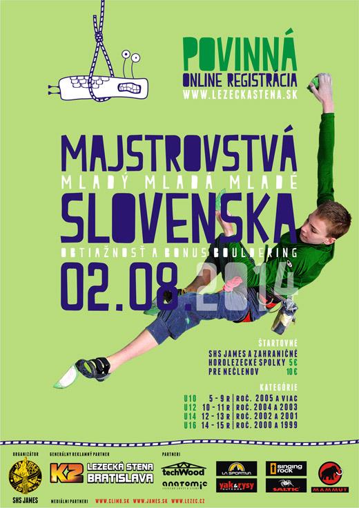 Majstrovstvá SR v lezení deti a mládeže 2. 8. 2014