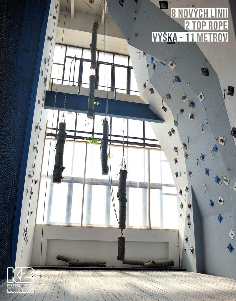 Nový lezecký sektor nad bouldrovkou