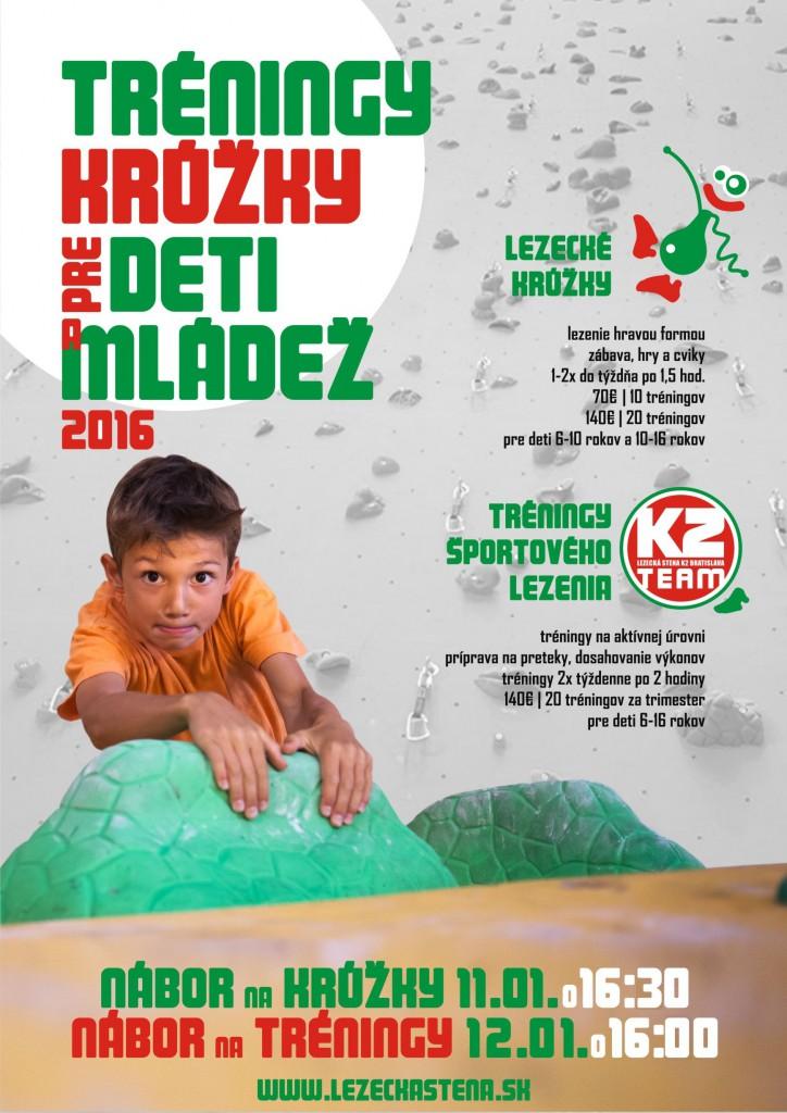 Nábor na detské tréningy a krúžky 2016