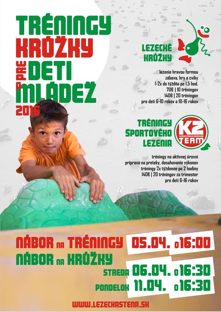 Detské tréningy a krúžky Apríl 2016