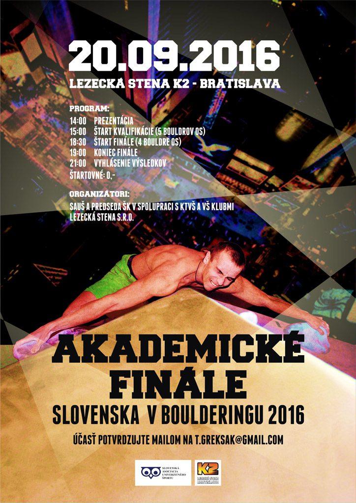 Akademické finále Slovenska v Boulderingu 2016