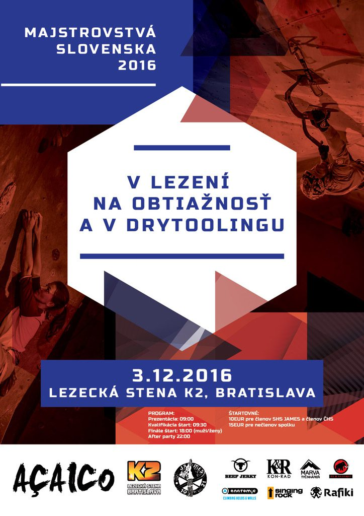 MSR Obtiažnosť, Drytooling 2016, Lezecká stena K2 - Bratislava